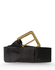 MARNI Plain weave Solid color Bow detailing Gold-tone buckle closure Lined interior Plain weave Woven not made of fur