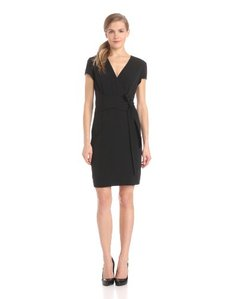 Ellen Tracy Women's Short Sleeve Wrap Dress
