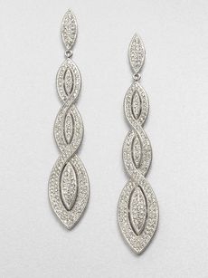 Adriana Orsini Pavé Braided Drop Earrings