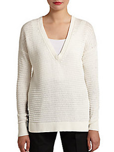 Robert Rodriguez Open-Knit Cotton Pullover