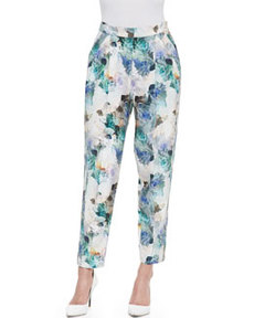 Rebecca Taylor Enchanted Gardens Pleated Pants