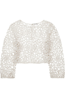 Oscar de la Renta Sequined lace top