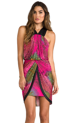 T-Bags LosAngeles Cross Back Tulip Dress in Pink