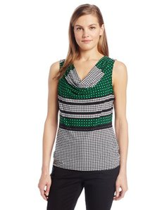 Calvin Klein Women's Printed Cowl-Neck Top