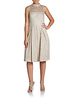 Cynthia Steffe Sadie Sleeveless Metallic Dress