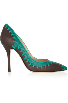 Oscar de la Renta Ross two-tone leather pumps