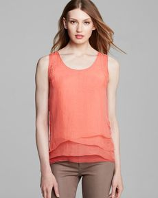 Elie Tahari Kinley Silk Layer Top