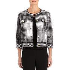Black and White Stretch Cotton Jacket