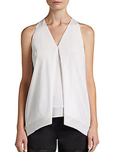 3.1 Phillip Lim Flared Wool-Trimmed Tank Top