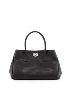 Furla New Appaloosa Saffiano East-West Tote Bag, Onyx