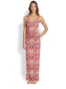 Mara Hoffman Ananda Cutout Maxi Dress
