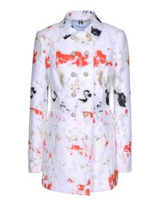 BLUMARINE Lamé Jacquard Organza Multicolor Pattern Classic Neckline External flap pockets Button closing Lined interior Front closure Long sleeves Jacquard Organza Woven not made of fur Long sleeves