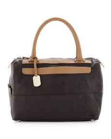Furla Laila Medium East-West Satchel, Coffee/Camel