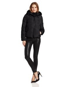 French Connection Women's Hooded Down Puffer Jacket