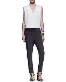 Tricolor Drop-Waist Jumpsuit   Tricolor Drop-Waist Jumpsuit