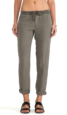 James Perse Linen Chino Pant in Brown