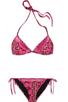 M Missoni Printed triangle bikini