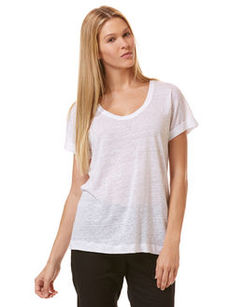 linen roll sleeve tee
