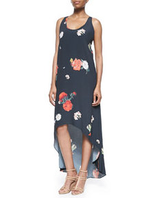 Veronica Floral-Print High-Low Dress   Veronica Floral-Print High-Low Dress