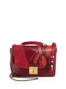 Marc Jacobs Mini Polly Mixed-Media Shoulder Bag