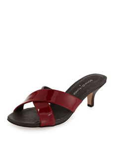 Donald J Pliner Raku Crossed Patent Leather Sandal, Red