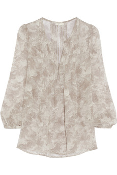 Joie Carim printed silk-georgette top