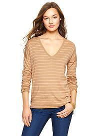 Luxlight stripe V-neck sweater