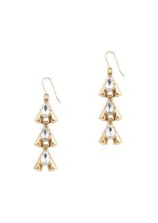 Linked arrowhead earrings
