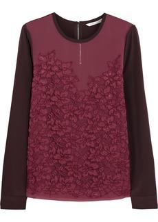 Diane von Furstenberg Branwen lace-paneled silk top