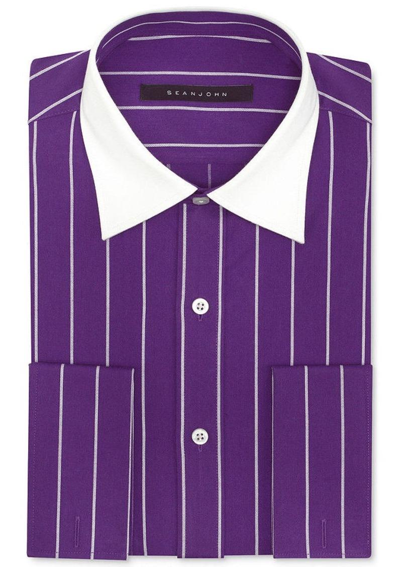 Sean John Sean John Wide Pinstripe French Cuff Dress Shirt