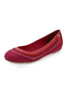 The Sak Frannie Slip-On Crochet Flat, Strawberry Stripe