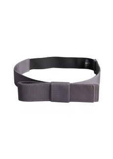 Lanvin graphite fabric bow detail elasticized waist belt