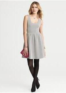Dot Ponte Fit-and-Flare Dress
