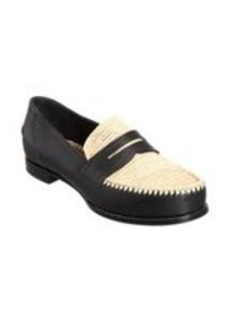 Bottega Veneta Straw-Detailed Penny Loafer
