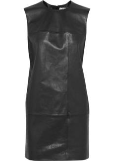 Saint Laurent Mondrian leather shift dress