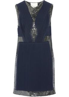 3.1 Phillip Lim Sequin-embellished chiffon mini dress