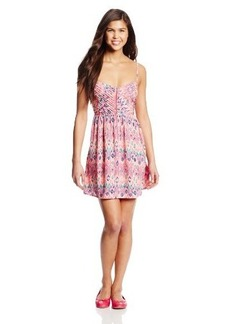 Roxy Juniors Shore Thing Woven Fit-and-Flare Dress