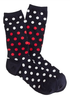 Navy polka-dot socks