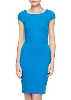 Diane von Furstenberg Helen Ponte Sheath Dress, Blue
