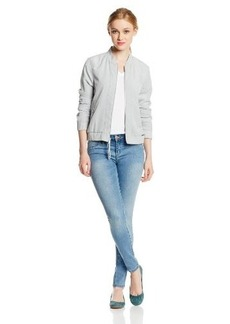 Calvin Klein Jeans Women's Soft Touch Poly Bomber