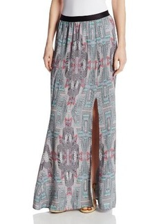 Twelfth Street by Cynthia Vincent Women's Maxi Skirt with Slit