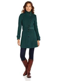 Cole Haan Women's Plush Belted Wool Coat