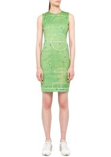 Akris punto Soccer Field Printed Dress, Green