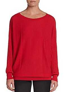 Lafayette 148 New York Extrafine Wool Ribbed Sweater