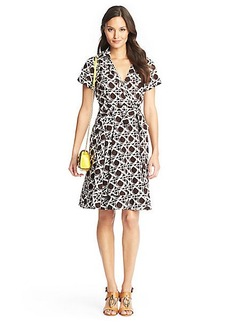 Kaley Printed Cotton Wrap Dress