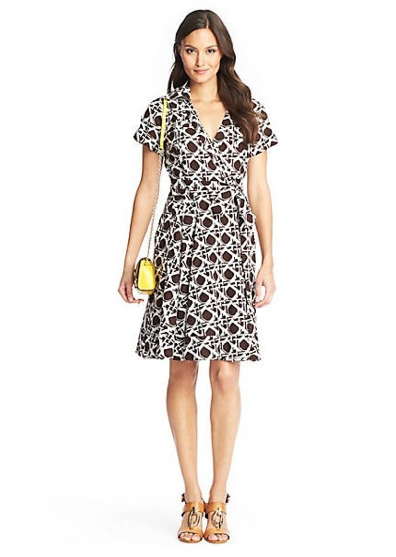Kaley Printed Cotton Wrap Dress