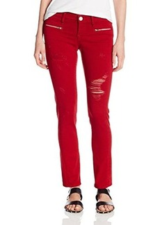 True Religion Women's Victoria Moto Skinny 29 Inch Jean In Rio Red