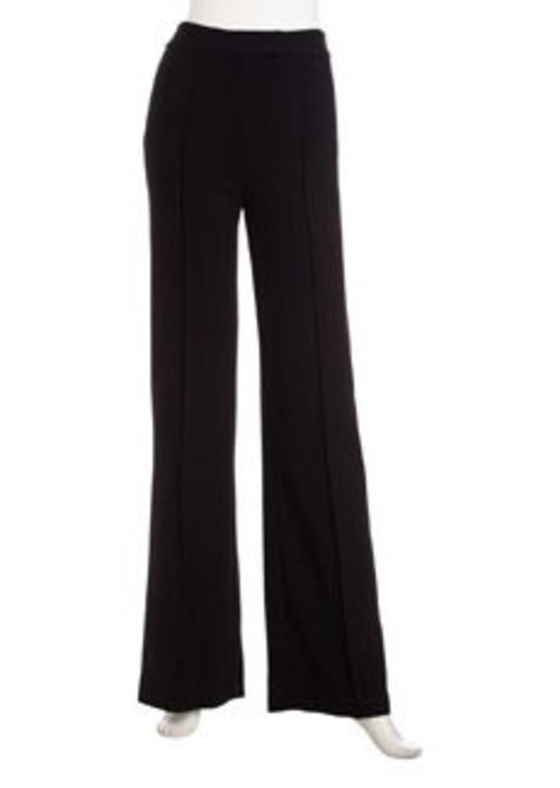 L.A.M.B. Crepe Bell-Bottom Pants, Black