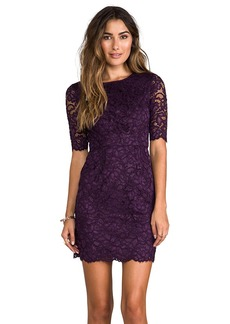 Shoshanna Magnolia Lace Davina Dress in Purple