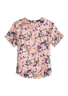 Collection silk floral tee